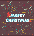 merry christmas cute hand drawn holiday cards and vector image vector image