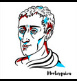 montesquieu portrait vector image vector image