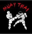muay-thai design vector image
