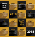 new year 2018 calendar design vector image vector image