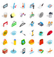 percent icons set isometric style vector image vector image