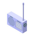 radio receiver icon isometric style vector image vector image