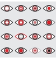 Red Eye Icons vector image