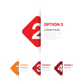 red option background square vector image vector image
