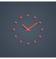red simple watches with shadow vector image vector image