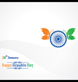 Republic Day greeting with butterfly vector image vector image