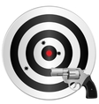 revolver and target vector image vector image