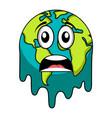 sad earth emote earth day vector image