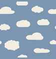 seamless background with blue sky and white clouds vector image