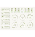 set labels and badges for food and drink vector image vector image
