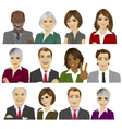 set of business people avatar collection vector image vector image