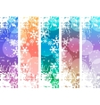 Set with four vertical winter banners vector image vector image