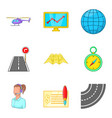 shipment icons set cartoon style vector image vector image