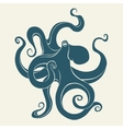 Silhouette of octopus Template for labels vector image