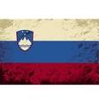 Slovenian flag Grunge background