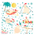 Snowman characters icon set Flat design vector image