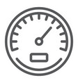 speedometer line icon data and analytics vector image