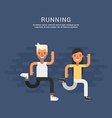 Sport Concept Male and Female Cartoon Characters vector image vector image