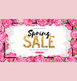 spring sale poster with full blossom peony flower vector image