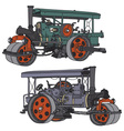 Steam roller vector image vector image