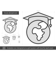 Study abroad line icon vector image vector image