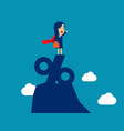 super businesswoman standing on top of vector image vector image