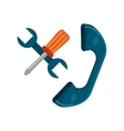 telephone speaker with call center icon vector image