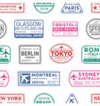 visa stamps seamless pattern sydney vector image vector image
