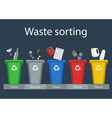 Waste sorting for recycling vector image vector image