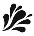 wave splash icon simple black style vector image vector image