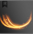wavy transparent light effect vector image vector image