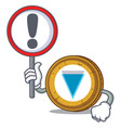 with sign verge coin character cartoon vector image vector image