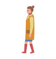 woman dressed in yellow poster vector image vector image