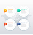 four options white infographic template vector image