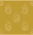golden fir cones decor seamless pattern vector image