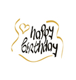 happy birthday script lettering vector image