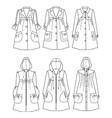 raincoats vector image