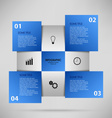Abstract info graphic with blue squares vector image vector image
