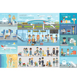 Airport Infographic set vector image vector image