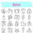 bahand drawn doodle icon set vector image