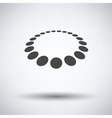 Beads icon vector image