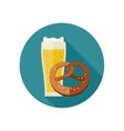 Beer and pretzel vector image