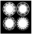 Black and white circular design vector image vector image