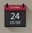 black friday 2017 sale calendar vector image vector image