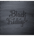 Black Friday Sale typographic label on chalkboard vector image