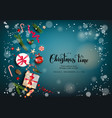 blue winter time background vector image