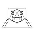 bowling pines icon outline style vector image vector image