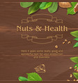 brown background with wooden texture vector image