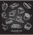 chalk food board design vector image vector image