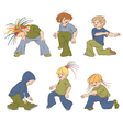 children dancing hip-hop vector image